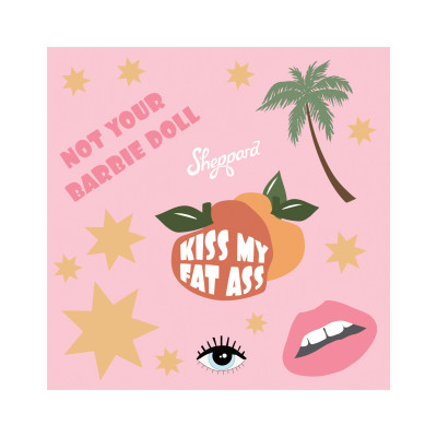 Sheppard - Kiss My Fat Ass Sticker Sheet